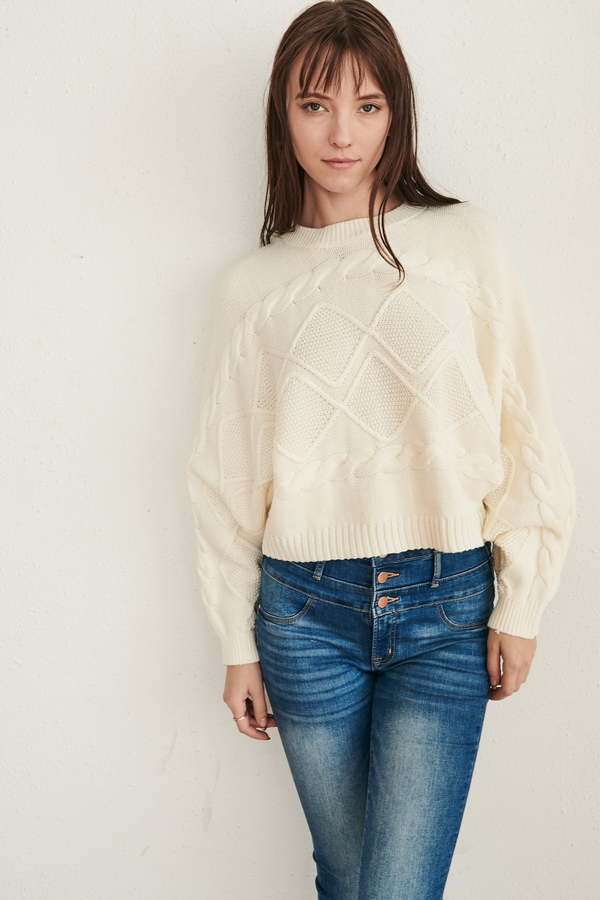 CROP SWEATER - orangeshine.com