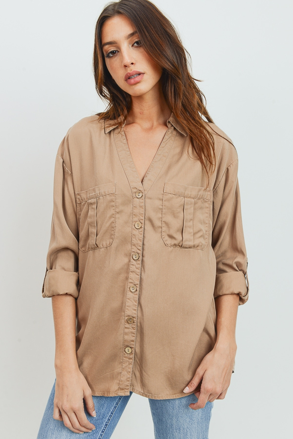 Tencel Button Down Shirts - orangeshine.com