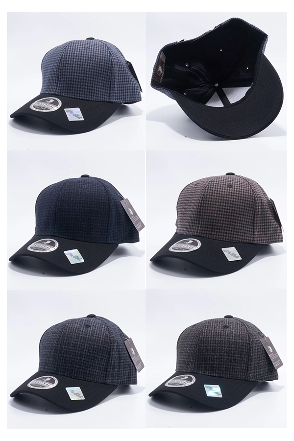 CURVED MINI CHECK SNAPBACK HATS - orangeshine.com