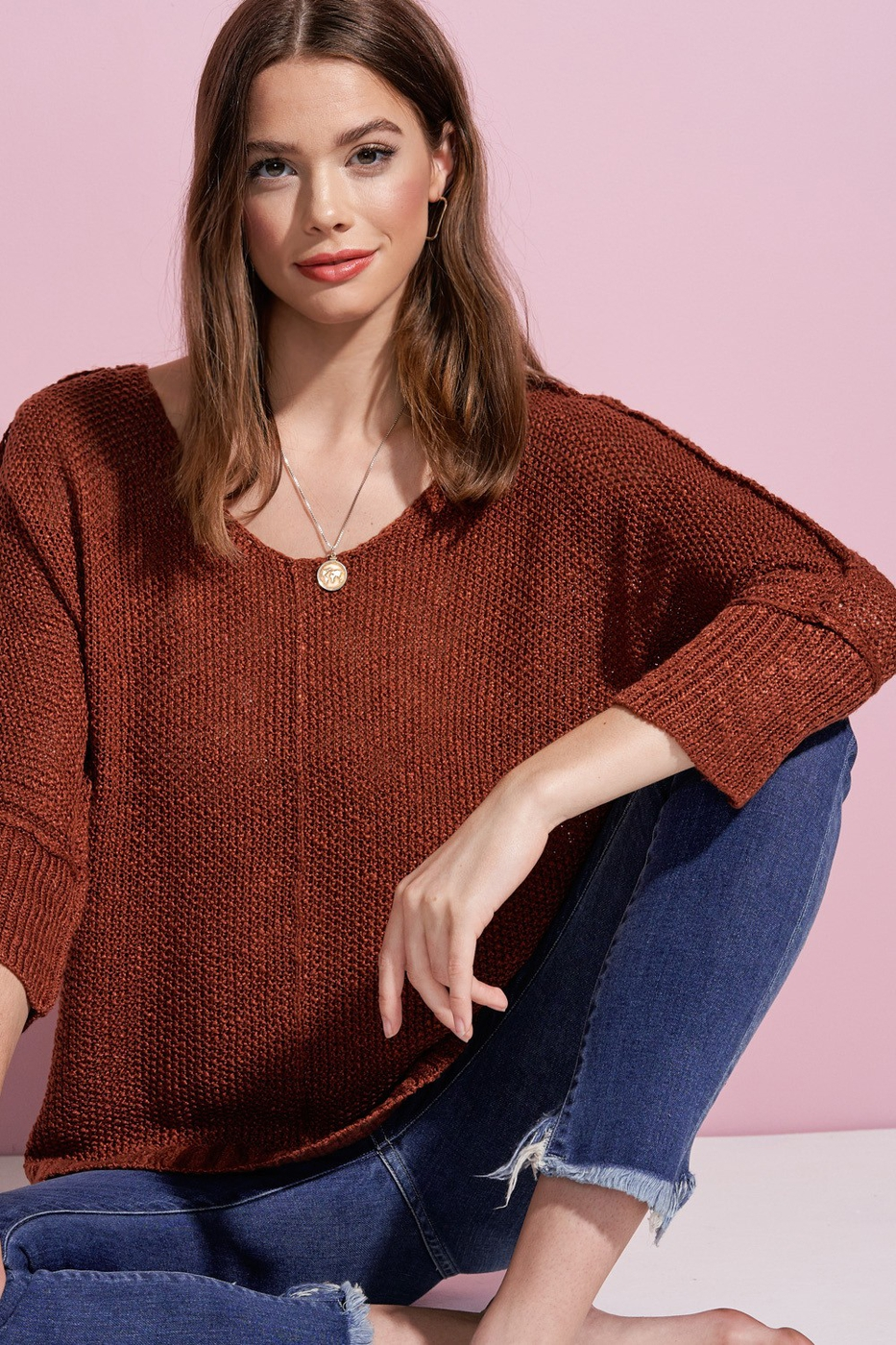 Fine Luxe Sweater Top  - orangeshine.com