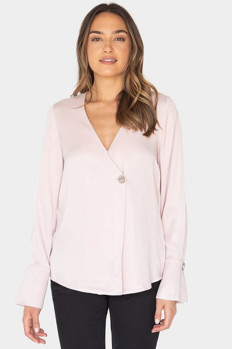 REGULAR SHOULDER LONG SLEEVE BLOUSE  - orangeshine.com