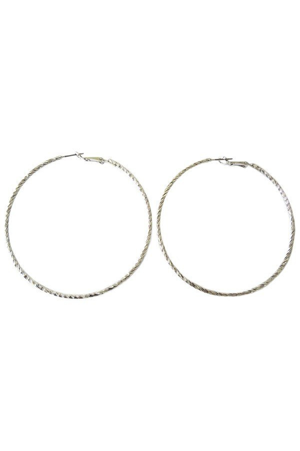 Textured hoop earrings - orangeshine.com