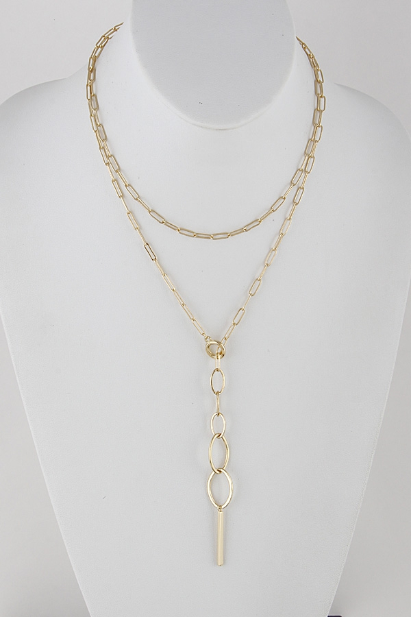 Layered Chainlink Necklace - orangeshine.com