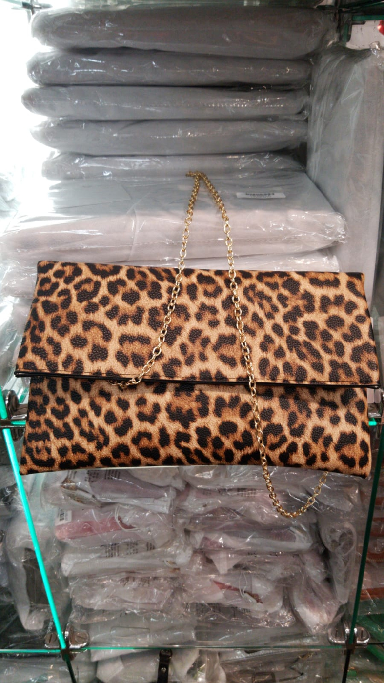 LEOPARD PRINT CLUTCH BAG - orangeshine.com