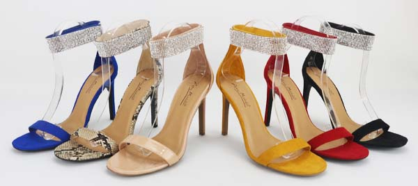 LDAIES ANKLE STRAP HEELED SANDALS - orangeshine.com