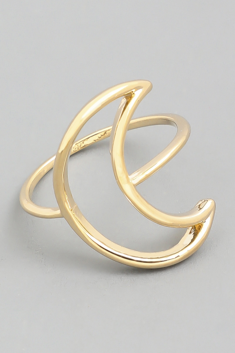 Moon Crescent Cut Out Ring. - orangeshine.com