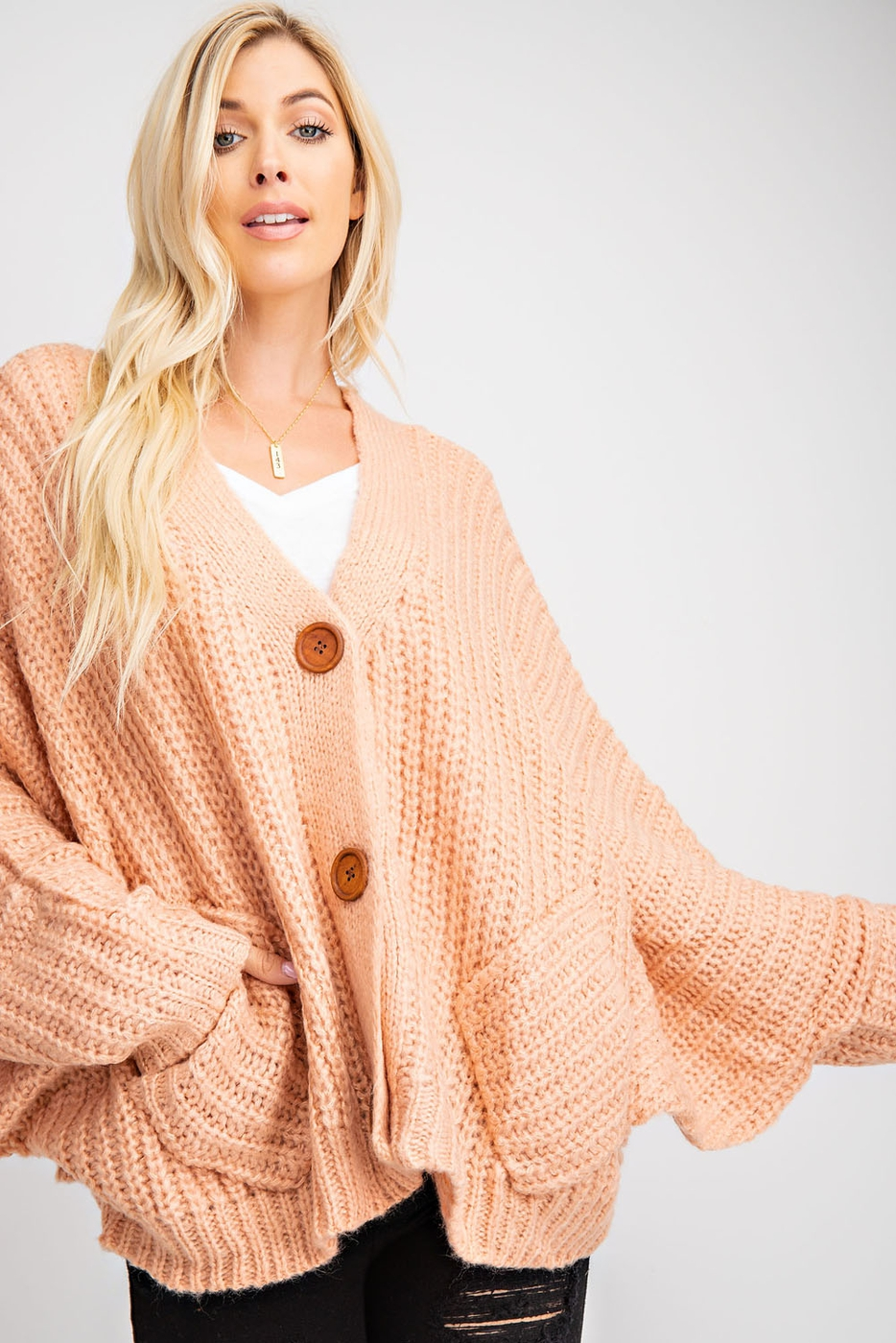 V SHAPE BACK NECK POINT CARDIGAN - orangeshine.com
