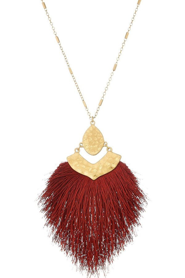 Long chain tassel necklace - orangeshine.com