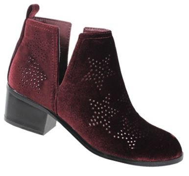 WOMEN VELVET RHINESTONE STAR BOOTIES - orangeshine.com