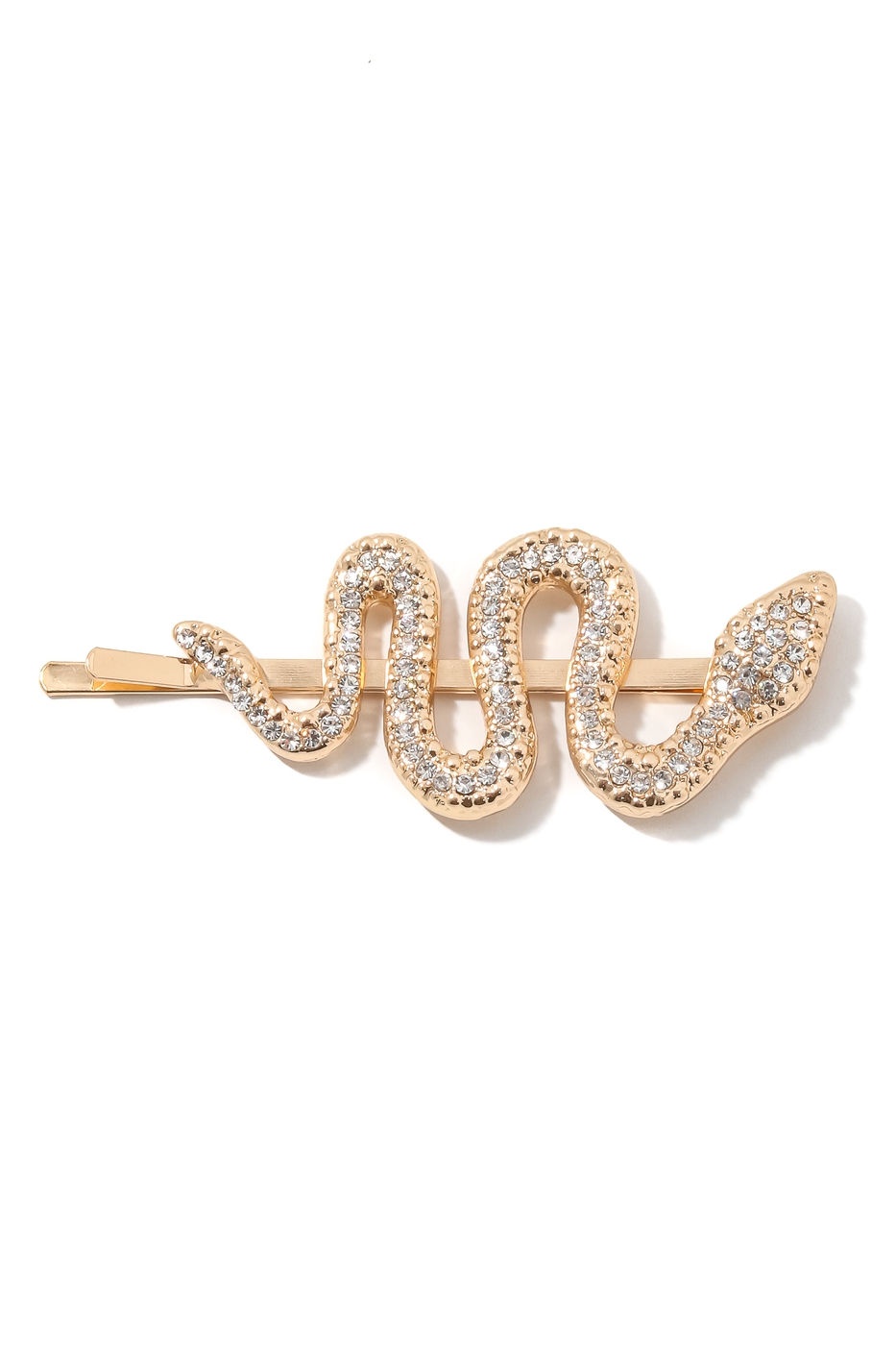 Studded Swirly Snake Hair Clip - orangeshine.com