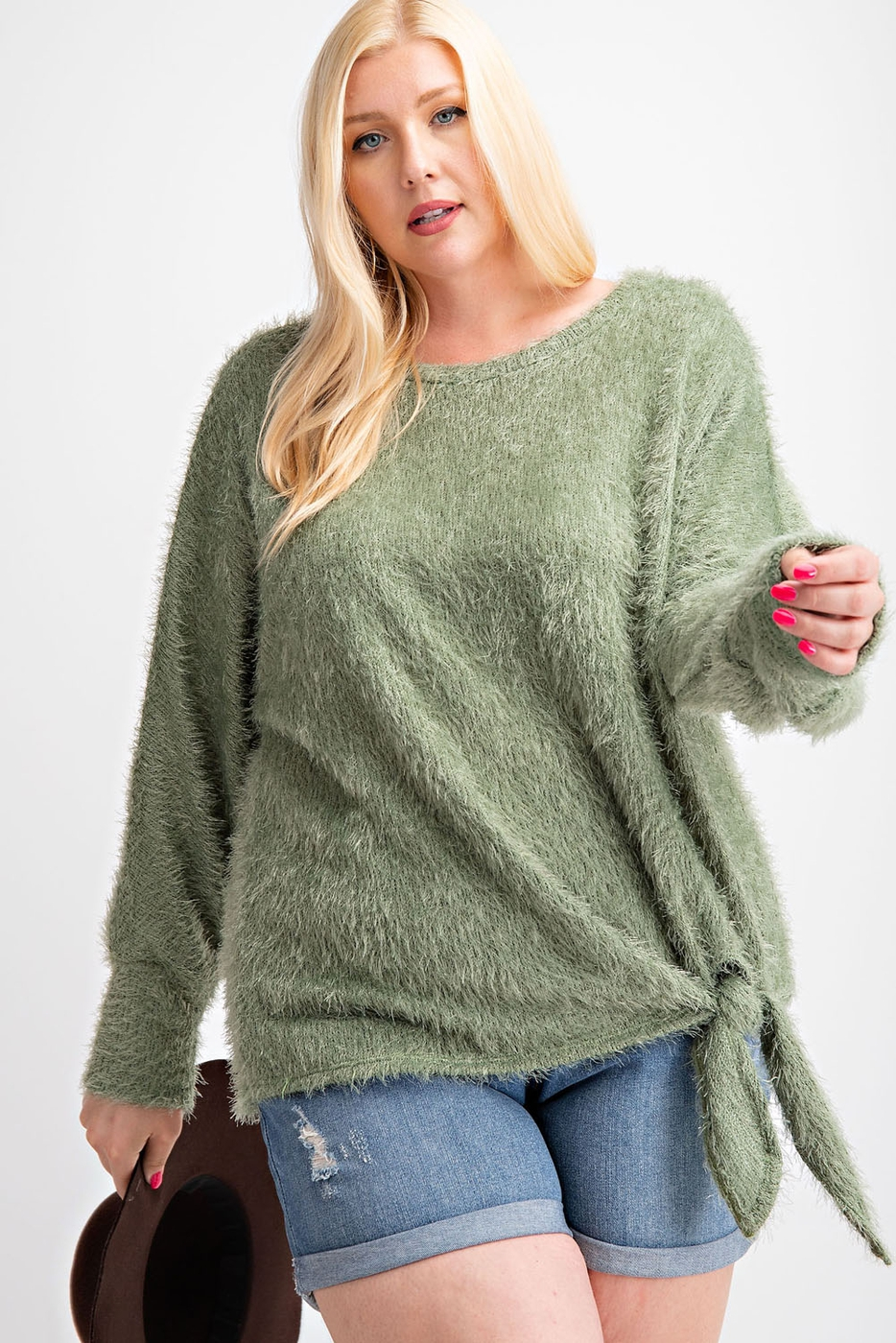 PLUS SIZE SOFT ANGORA SWEATER KNIT T - orangeshine.com