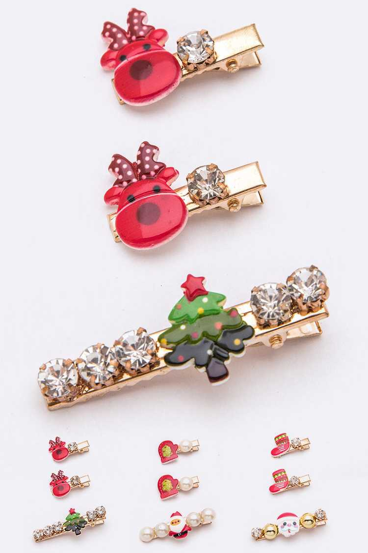 36 PCS Christmas Theme Mix Hair Clip - orangeshine.com