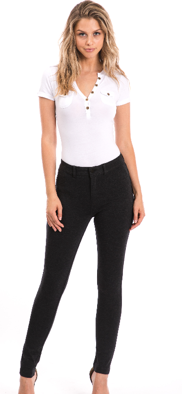 Women ponte knit pants - orangeshine.com
