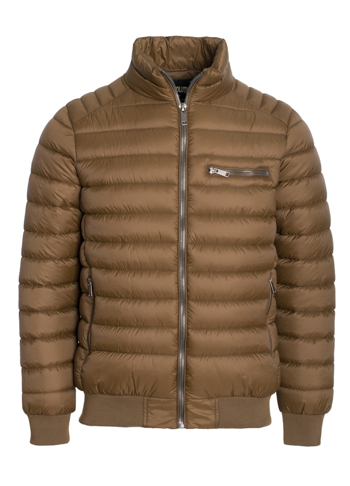 Quilted Puffer Jacket W Zip Pockets - orangeshine.com