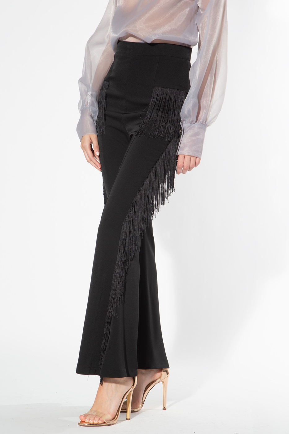 Flared Fringe Pants - orangeshine.com
