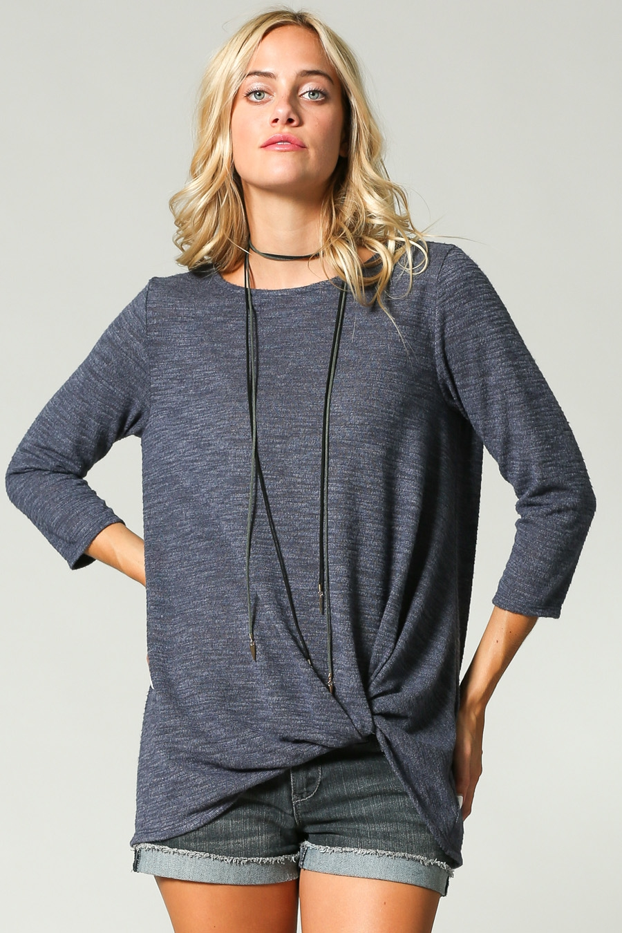 ULTRA SOFT TWISTED HEM TOP - orangeshine.com