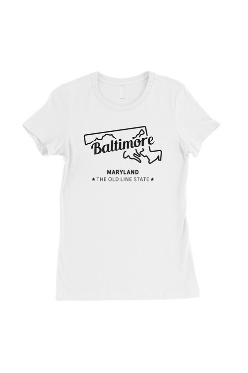 Map-Baltimore T-Shirt - orangeshine.com