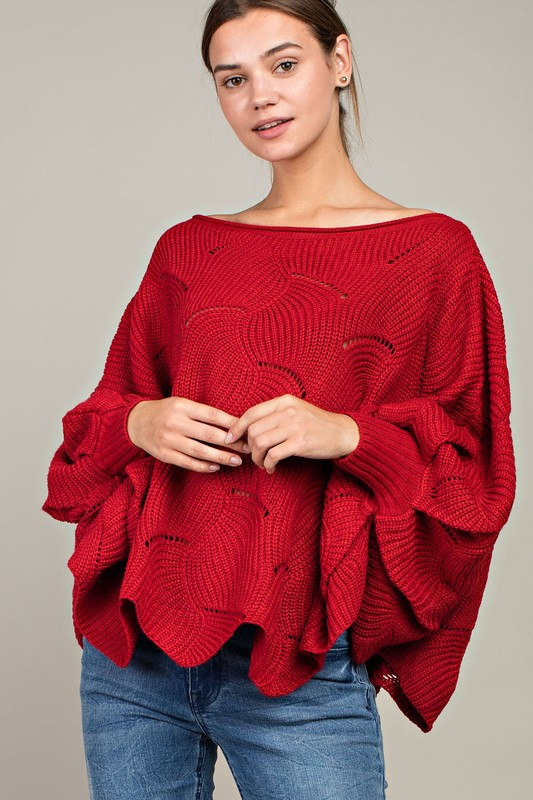 Dolman Sleeve Oversized Sweater - orangeshine.com