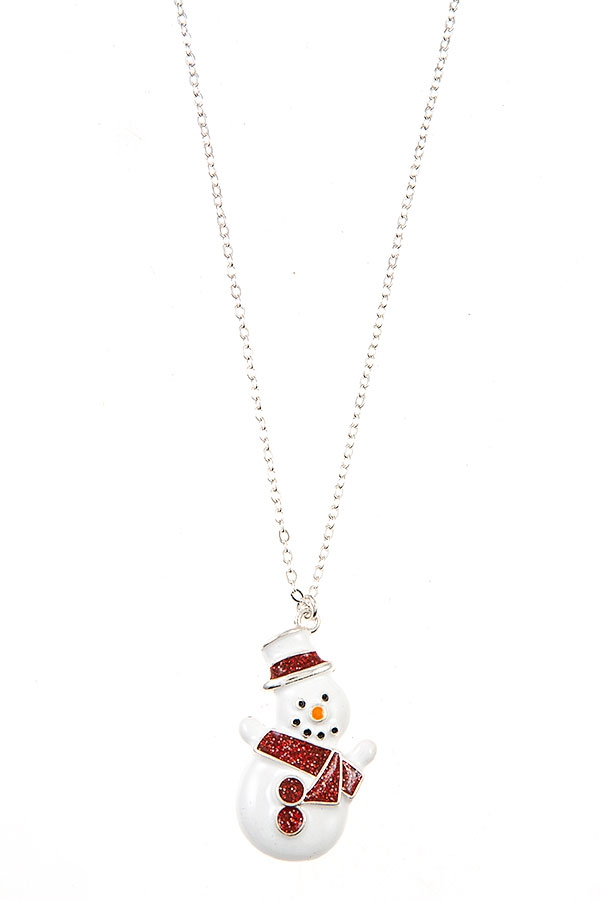 SNOWMAN PENDANT NECKLACE   - orangeshine.com