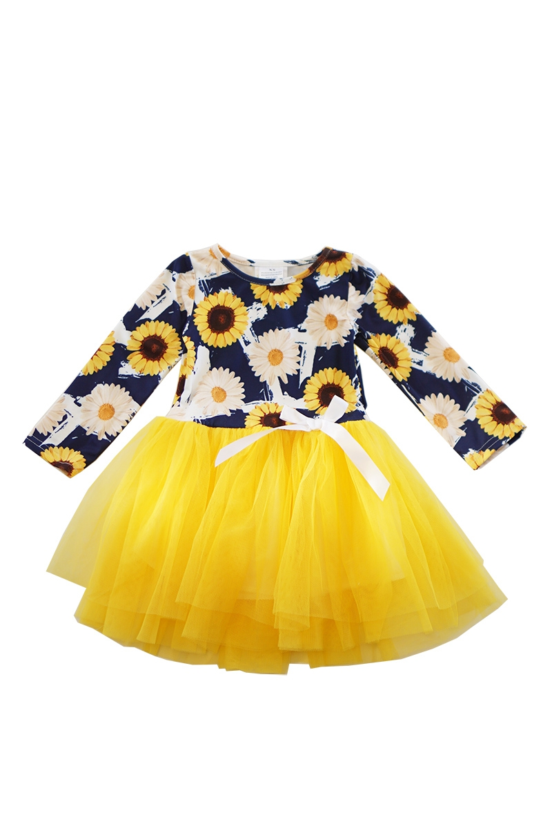 Sunflower top with yellow tulle - orangeshine.com
