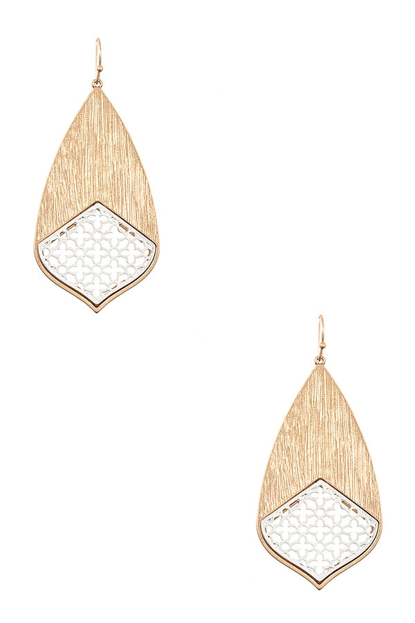 CLOVER CUT OUT DROP EARRING - orangeshine.com