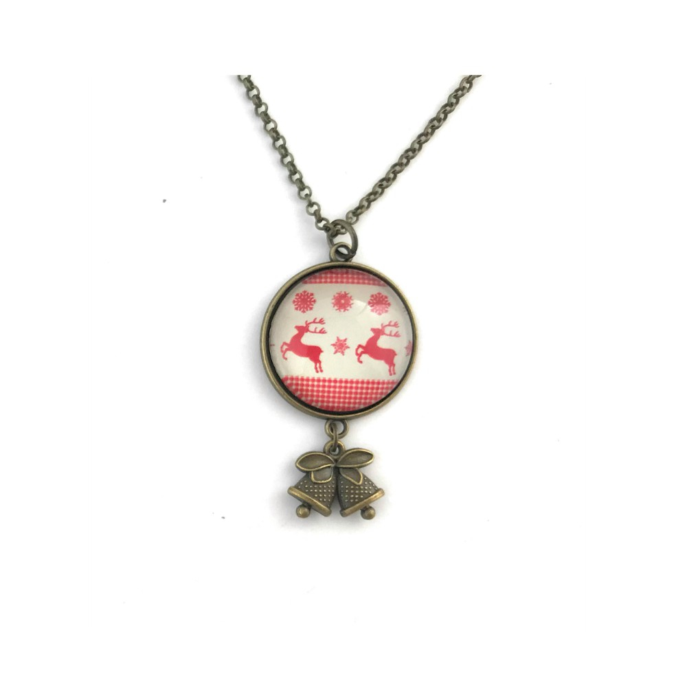 Reindeer Christmas Necklace - orangeshine.com