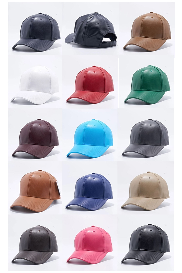 PU LEATHER BASEBALL HATS - orangeshine.com