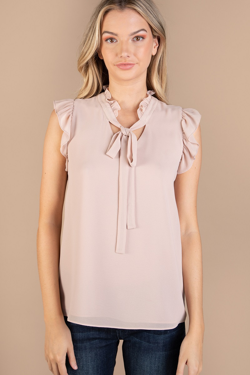 REGULAR SHOULDER FRILL BLOUSE - orangeshine.com