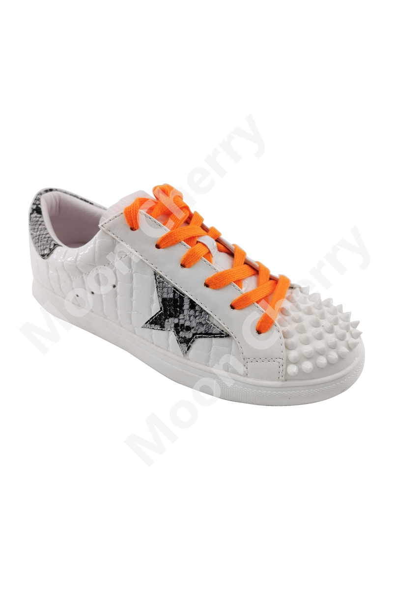 CHRISTMAS WOMEN`S LACE UP SNEAKERS - orangeshine.com