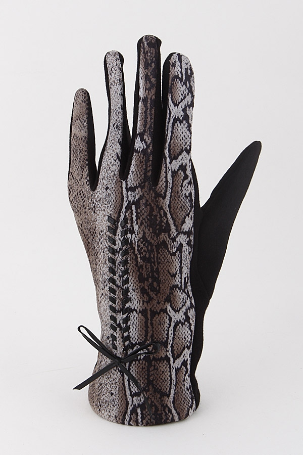 Animal Print Gloves With Ribbon 9ICA - orangeshine.com