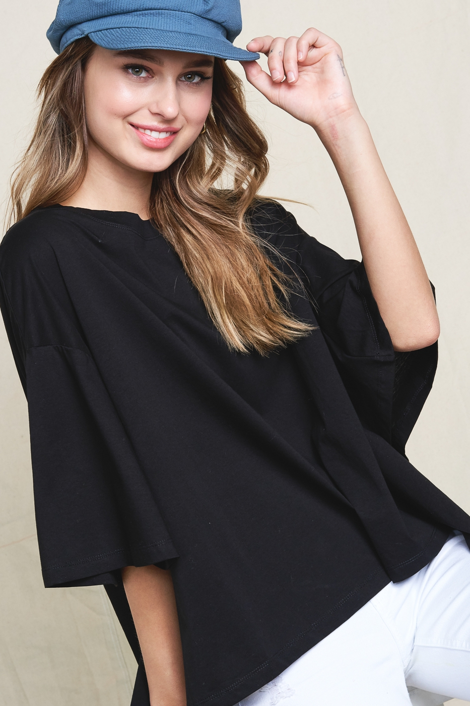 SHORT BELL SLEEVE TOP - orangeshine.com
