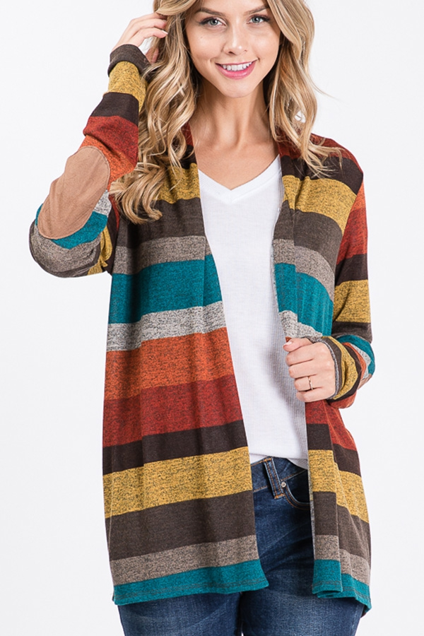 MULTI COLOR OPEN CARDIGAN - orangeshine.com