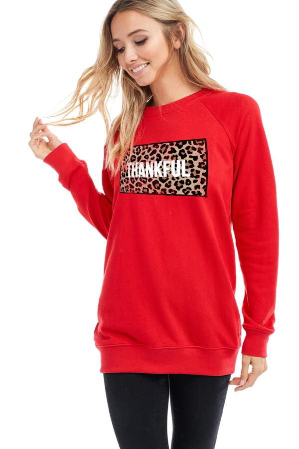 THANKSGIVING GRAPHIC SWEATSHIRTS TOP - orangeshine.com