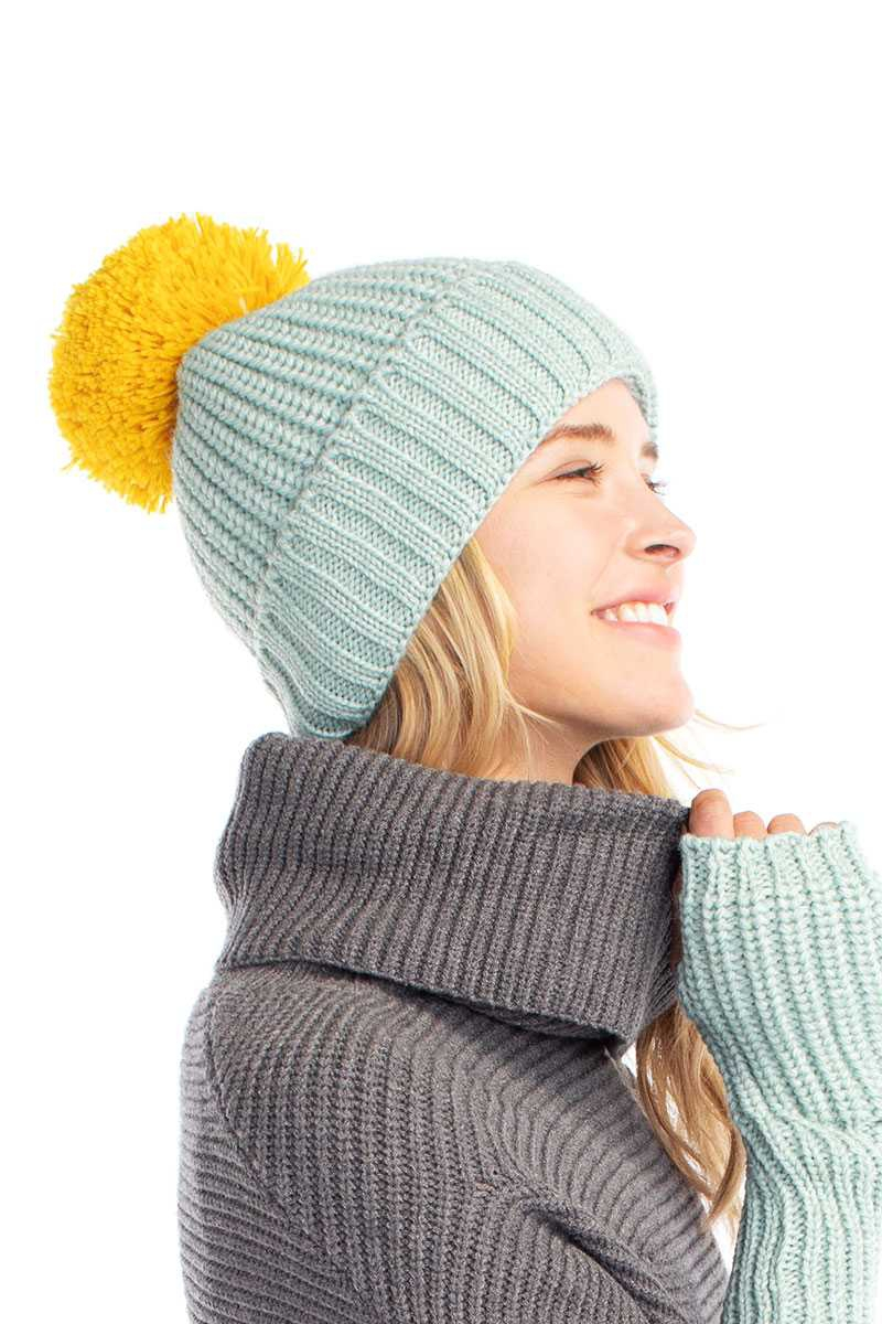 CASHMERE BLENDED COTTON CANDY BEANIE - orangeshine.com
