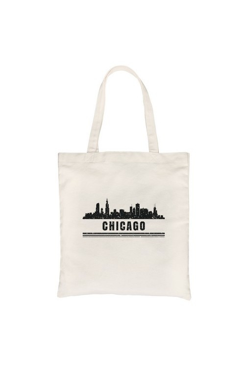 Skyline-Chicago Canvas Bag - orangeshine.com