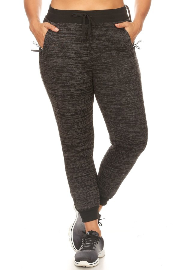 Plus Size Thick FUR Joggers Pants - orangeshine.com
