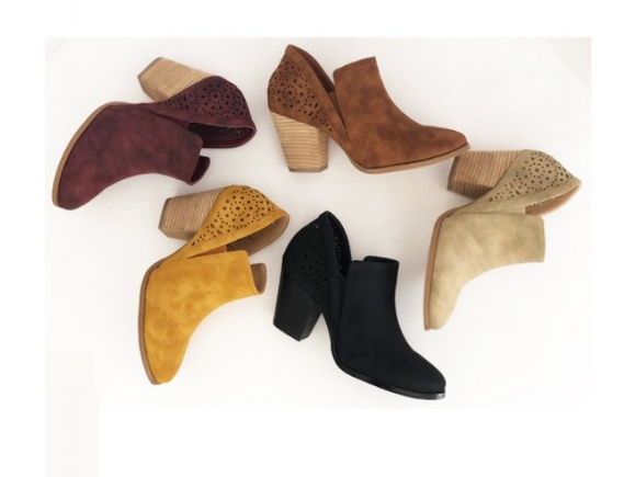SIDE CUT MID HEEL BOOTIES - orangeshine.com
