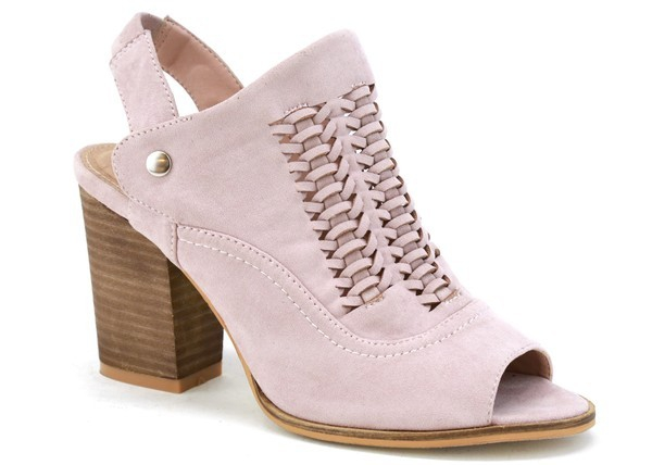 WOMEN PEEP TOE CHUNKY HEEL BOOTIES  - orangeshine.com