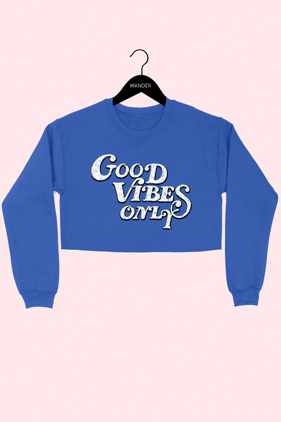 GOOD VIBES ONLY GRAPHIC CROP SS - orangeshine.com