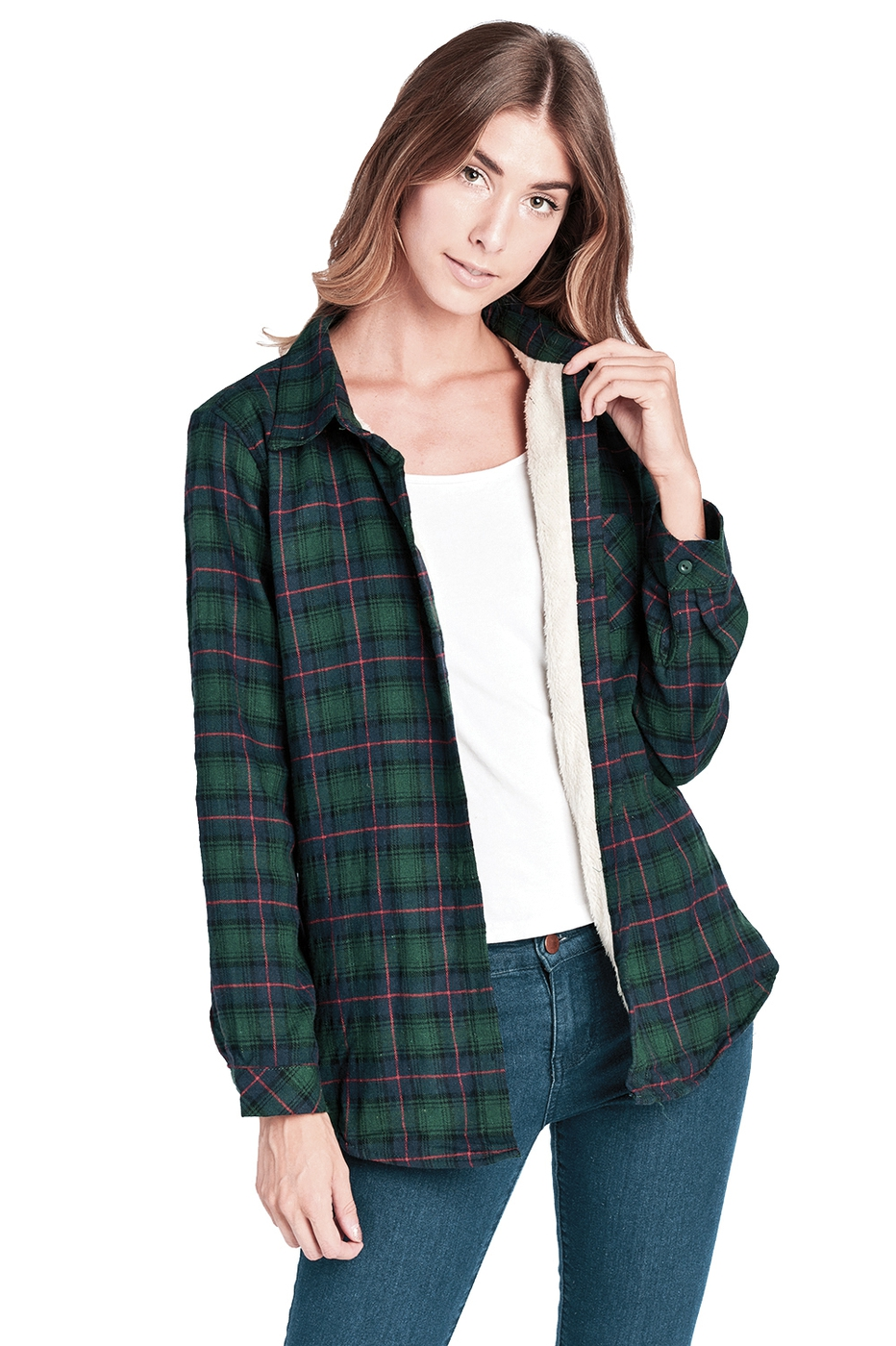 FLEECE PLAID FLANNEL LONG SLEEVE - orangeshine.com