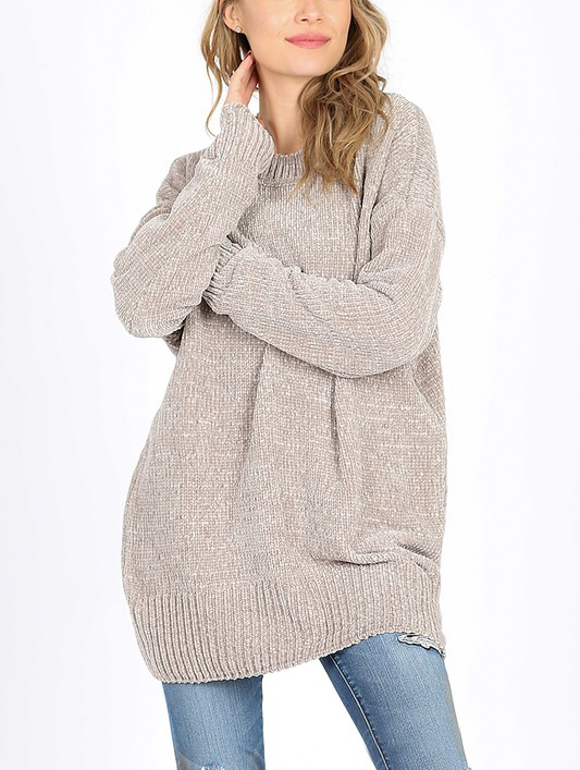 CHENILLE SWEATER - orangeshine.com