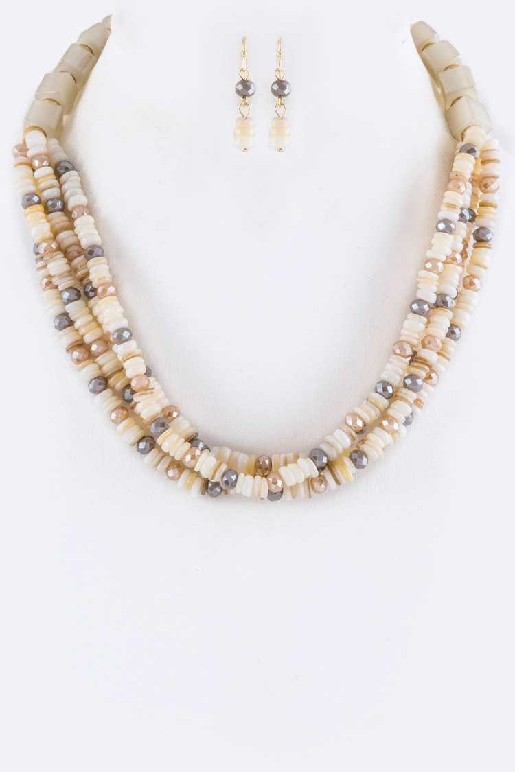 Mix Semi Precious Beads Layer Neckla - orangeshine.com