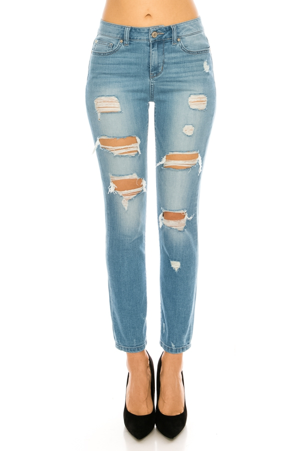 High Rise Straight Leg  Jeans - orangeshine.com