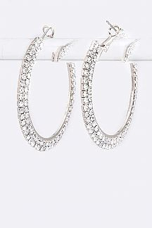 45MM Crystal Rhinestone Fashion Hoop - orangeshine.com