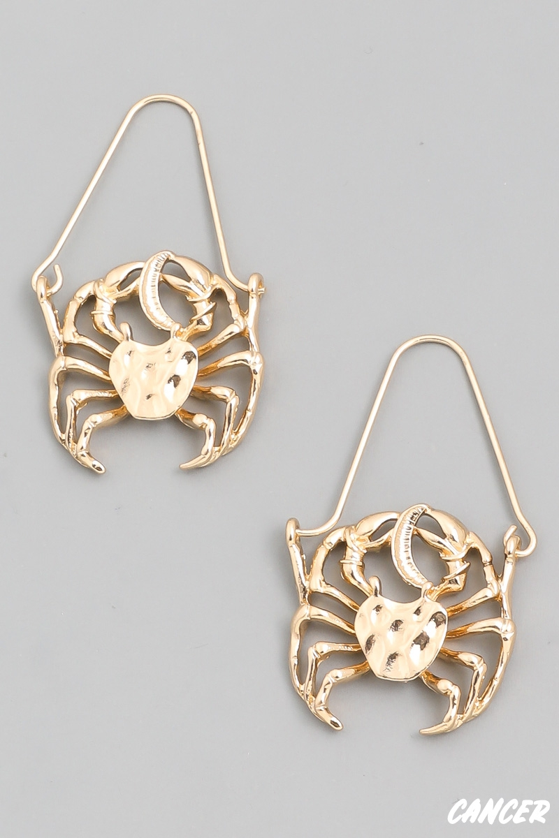 Cancer Zodiac Constellation Earrings - orangeshine.com