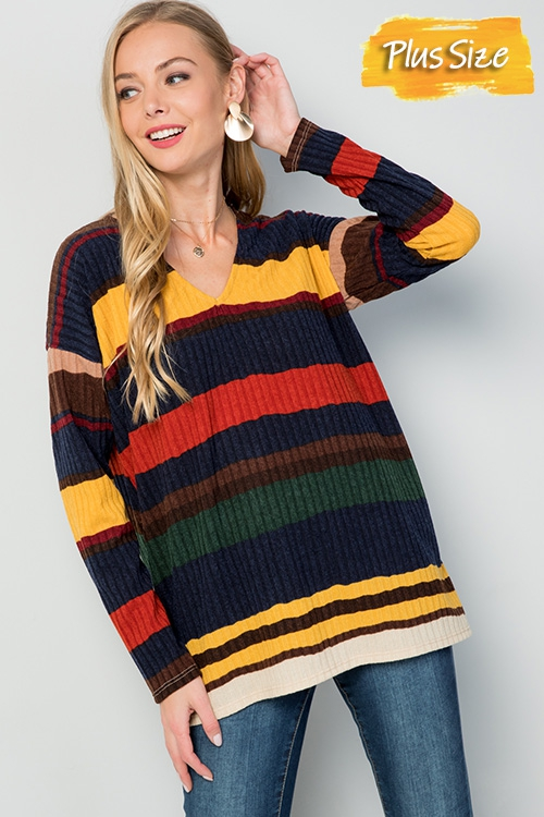 College colorblock v-neck sweater - orangeshine.com