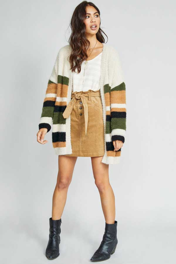 THAT`S THE WAY STRIPE CARDIGAN - orangeshine.com
