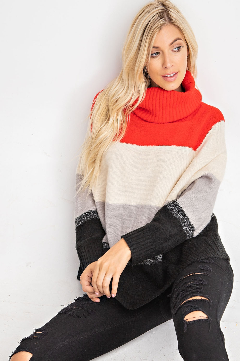 COZY AND WARM COLOR BLOCK SWEATER TO - orangeshine.com