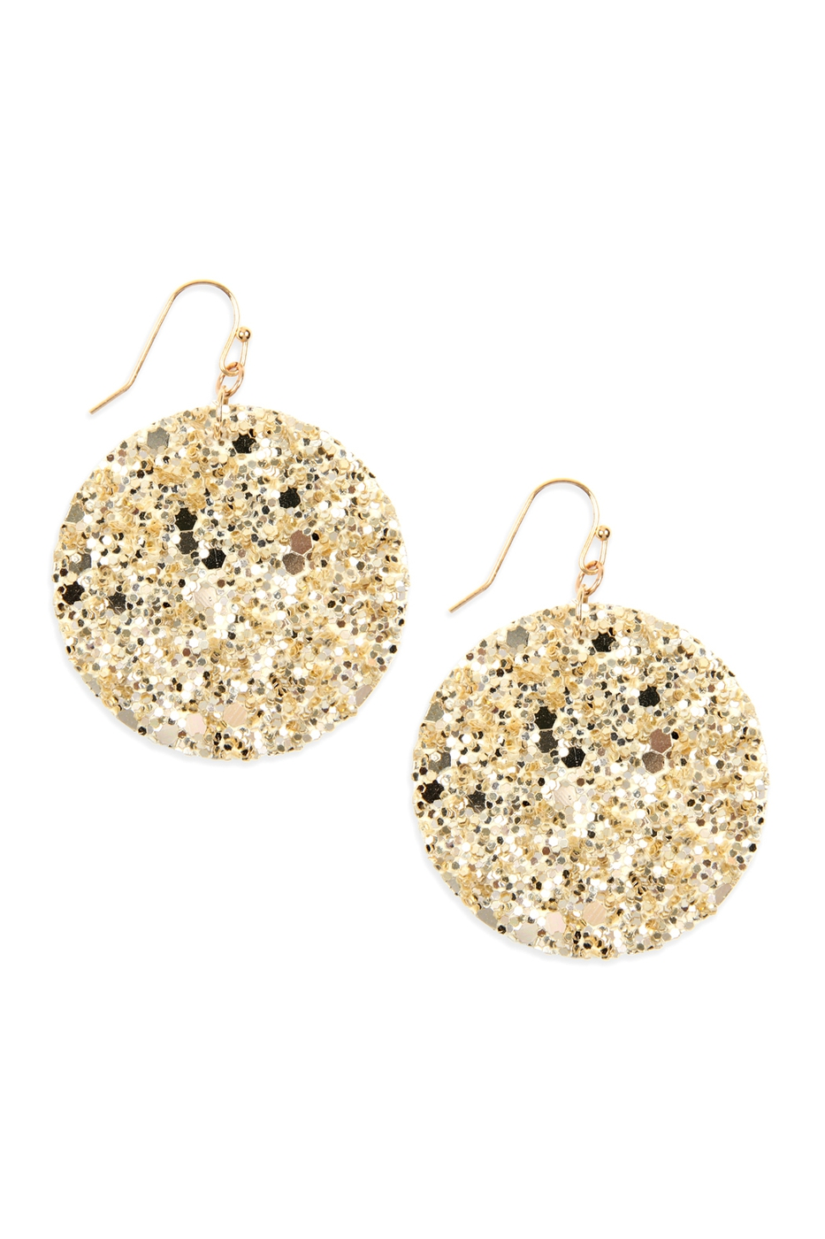 SEQUIN CIRCLE DROP EARRINGS - orangeshine.com