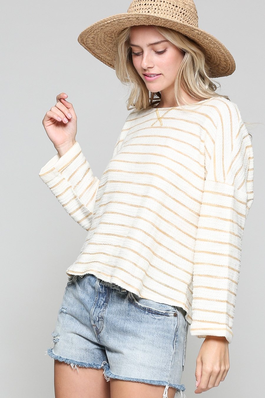 OPEN TIE BACK STRIPE TOP - orangeshine.com